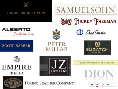 Daniel Taylor Clothier - Lines Carred are Samuelsohn, David Donahue, Bugatchi Uomo, Peter Millar, Scott Barber, Hickey Freeman, Empire Biella, JZ Richards, Dion, and  Torino Leather
